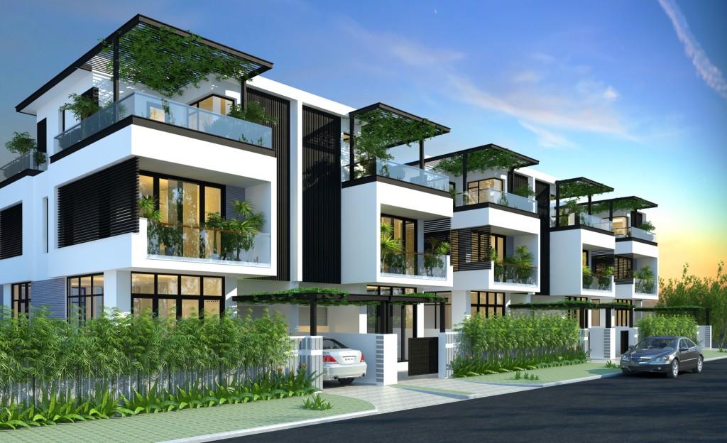 Biệt thự song lập Dream City Văn Giang có không gian trong lành