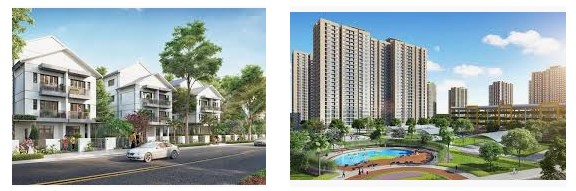 Có nhiều loại hình căn hộ chung cư ở Dream City Văn Giang