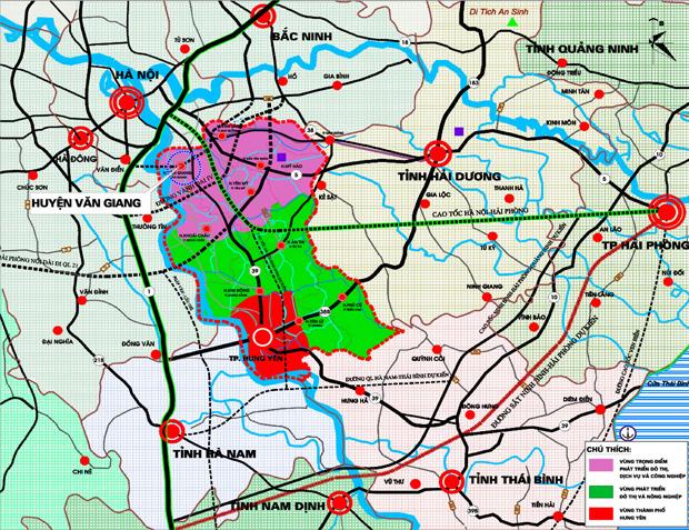 vị trí khu đô thị văn giang